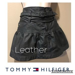 NWOT Hilfiger Lamb Leather Skirt, Medium